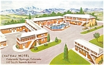 Click here to enlarge image and see more about item p6171: Colorado Springs CO Chateau Motel Postcard p6171