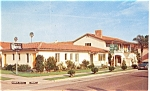 Click here to enlarge image and see more about item p6173: Santa Barbara CA Twin Palms Motel Postcard