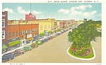 Hickory NC Union Square Postcard p6202 Cars 30s