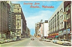 Omaha Nebraska, Douglas St., Cars of the 50s,Postcard