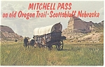 Click here to enlarge image and see more about item p6312: Scottsbluff, NE Mitchell Pass Covered Wagon Postcard