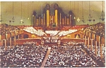 Mormon Tabernacle Salt Lake City UT  Interior Postcard p6315