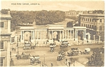 Click here to enlarge image and see more about item p6337: London,England, Hyde Park Corner,Horse Wagons ,Postcard