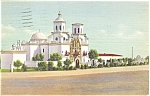 Click here to enlarge image and see more about item p6346: Tucson AZ Old Mission San Xaivier Del Bac Linen p6346
