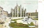 Milan, Italy, Piazza del Duomo Postcard Trolleys