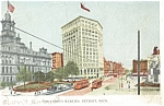 Click here to enlarge image and see more about item p6369: Detroit, MI, The Campus Martius, Trolley  Postcard 1906