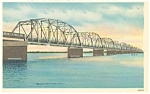 Panama City FL Hathaway Bridge Postcard p6399