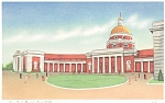 Click here to enlarge image and see more about item p6436: 1939 NY Worlds Fair Court of States Linen Postcard