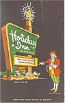 Springfield Ohio Holiday Inn Sign Postcard p6438