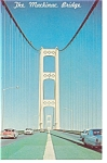 The Mackinac Bridge Vintage Cars Postcard