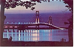 The Mackinac Bridge at Night Postcard
