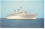 SS Constitution Passenger Liner Postcard p6490