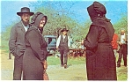 Click here to enlarge image and see more about item p6530: Pennsylvania Dutch Amish Folks Postcard
