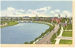 Cambridge MA Charles River Near Harvard Postcard p6541