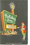 Rocky Mount NC Holiday Inn Sign Postcard p6551