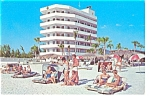 Sarasota FL Three Crowns Hotel and Court Postcard p6560