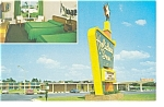 Smithfield, NC, Holiday Inn Postcard Vintage Cars