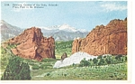Click here to enlarge image and see more about item p6600: Gateway Garden of the Gods Colorado Postcard p6600