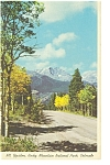 Mt Ypsilon Rocky Mountain National Park CO Postcard p6601