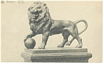 Click here to enlarge image and see more about item p6615: Waterloo, Belgium, The Lion Statue Postcard