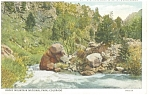 Click here to enlarge image and see more about item p6623: Elephant Rock, Rocky Mt Park Colorado Postcard