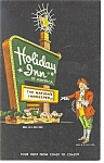 Akron OH Holiday Inn Sign Postcard p6650