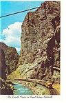 Rio Grande Train in Royal Gorge CO Postcard p6664