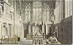 Click here to enlarge image and see more about item p6738: Warwick, England,The Beauchamp Chapel Postcard