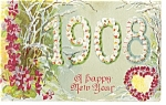 Click here to enlarge image and see more about item p6758: New Years  Postcard 1908