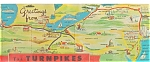 Pennsylvania Turnpike Map Postcard