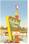 Akron  OH Holiday Inn Sign Postcard p6780