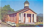 Click here to enlarge image and see more about item p6783: Cullowhee NC Baptist Church Postcard p6783 Vintage Cars