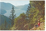Lake Crescent Washington Postcard p6784