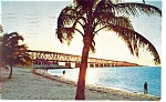Sunset over Bahia Honda Bridge,FL Keys  Postcard