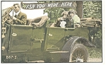 Click here to enlarge image and see more about item p6803: Wish You Were Here Postcard Cars 1910s