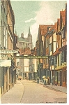 Click here to enlarge image and see more about item p6852: English Street Scene Postcard p6852