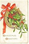 Christmas Greetings Postcard Divided Back