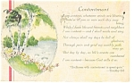 Click here to enlarge image and see more about item p6905: Godliness With Contentment  Timothy 6:6 Postcard p6905