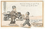 Click here to enlarge image and see more about item p6953: Bouquet for a Dead Ford Comical Postcard 1919