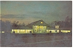 Williamsburg, VA, Lord Paget Motor Inn at night Pcard