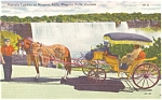 Click here to enlarge image and see more about item p70344: Horse Drawn Landau, Niagara Falls, Ontario