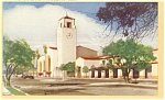 Los Angeles, CA, Union Station Linen Postcard