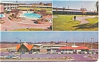 Click here to enlarge image and see more about item p7141: Weldon, NC Howard Johnson's Motel Postcard Vintage Cars