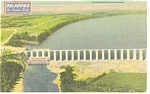 Click here to enlarge image and see more about item p7160: Grand River Dam Oklahoma Linen Postcard p7160
