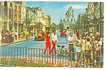 Disney World Main Street USA Postcard p7162