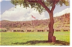 Fort Davis TX Flagpole and 37 Star Flag Postcard p7168