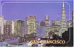 Click here to enlarge image and see more about item p7173: San Francisco CA At Night Postcard p7173