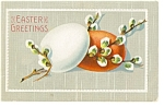 Click here to enlarge image and see more about item p7188: Easter Greetings Postcard 1910