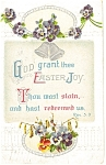 Click here to enlarge image and see more about item p7190: God Grant Thee Easter Joy Postcard 1913