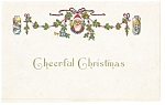 Cheerful Christmas Postcard p7192 Santa
